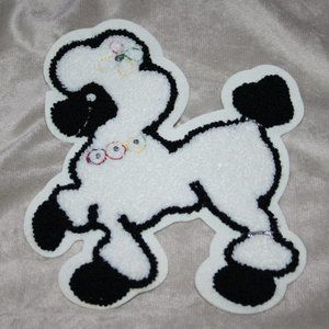 """Vintage white and black poodle patch 8.5"""""""